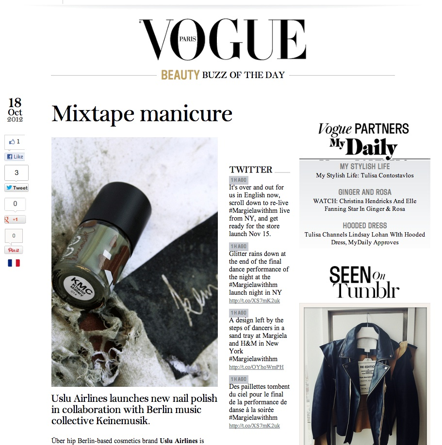 Vogue FR 2012-10-18 Screen Shot